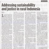 Addressing sustainability and justice in rural Indonesia