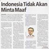 Indonesia Tidak Akan Minta Maaf