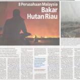 8 Perusahaan Malaysia Bakar Hutan Riau