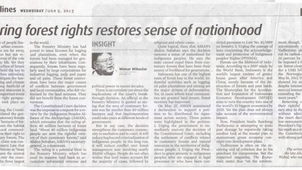 Restoring Forest Rights Restores Sense of Nationhood