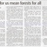 RIGHTS FOR US MEAN FORESTS FOR ALL