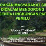 Gerakan Masyarakat Sipil di dalam Mendorong Agenda Lingkungan Pada Pemilu