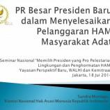 """Seminar Nasional """"Memilih Presiden yang Pro Pelestarian Lingkungan dan Penghormatan HAM"""" Yayasan Perspektif Baru, WALHI dan KemitraanJakarta, 18 Juni 2014"""