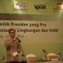 """Foto : Seminar Nasional """"Memilih Presiden Yang Pro Kelestarian Lingkungan dan HAM"""""""