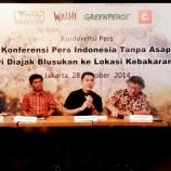 Foto Konferensi Pers Indonesia Tanpa Asap : Jokowi Diajak Blusukan ke Lokasi Kebakaran Hutan