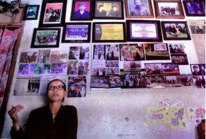 Gunarti di rumahnya di Dusun Bowong, Pati, Jawa Tengah, 6 Juni lalu.